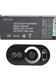 cheap -6A 3-Channel Smart Wireless RF RGB LED Touch Panel Controller  for RGB LED Strip Lamp (DC 12~24V)