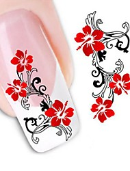 Water Transfer  Printing  Nail Stickers XF1441