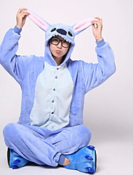 cheap -Kigurumi Pajamas Blue Monster / Monster Onesie Pajamas Costume Flannel Toison Blue Cosplay For Adults' Animal Sleepwear Cartoon Halloween