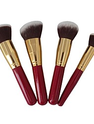 4 Makeup Brushes Set Synthetic Hair Face / Lip / Eye Sedona
