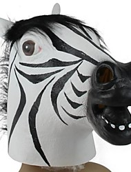 economico -maschera in lattice zebra testa per Halloween festa in costume (1 pz)