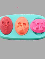 billige -halloween menneskelige skelet kranium fondant kage chokolade silikone forme, l11cm * w5cm * h1.4cm