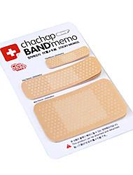 band-aid scrapbooking en forme de notes repositionnables