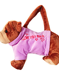 cheap -Bulldog Design Plush Toys Soft Hand Bag