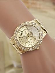 cheap -Women's Fashion Rhinestones Figure Steel Belt Quartz Wrist Watch Cool Watches Unique Watches