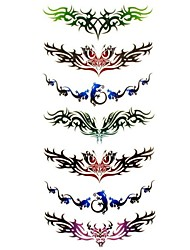 cheap -1pc Totem Style Butterfly Waterproof Tattoo Sample Mold Temporary Tattoos Sticker for Body Art(18.5cm*8.5cm)