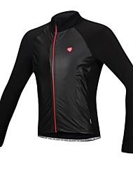 SANTIC Cycling Jacket Men's Bike Jacket Jersey Waterproof Thermal / Warm Windproof Fleece Lining Polyester PU Solid Camping / Hiking