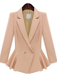 Women's Vintage Blazer,Solid Long Sleeve Regular