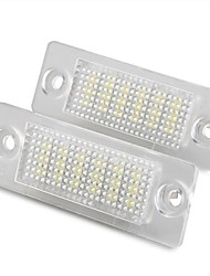 cheap -2 pcs White 18 LED 3528 SMD Number License Plate Lights Lamp for VW Passat B5