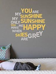 Cartoon Words & Quotes Romance Abstract Wall Stickers Plane Wall Stickers Decorative Wall Stickers Material Washable RemovableHome