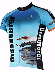 baratos -ILPALADINO Homens Manga Curta Camisa para Ciclismo Moto Camisa / Roupas Para Esporte, Secagem Rápida, Resistente Raios Ultravioleta,