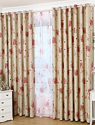 Country Curtains® Blackout Double Sided Printing Country Colorful Blooming Flowers Curtain One Panel