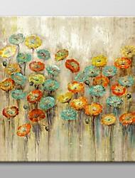 billige -Hånd-malede Blomstret/Botanisk Et Panel Canvas Hang-Painted Oliemaleri For Hjem Dekoration