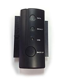 USB 2.0 para 3 x adaptador sata com ler e escrever simultaneamente