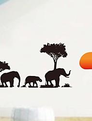 Недорогие -настенные наклейки наклейки для стен, росписи Африка слон домашнего декора наклейки ПВХ стеновые