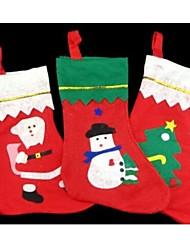 Albero di Natale calze decorazione caramelle calzini sacchetto 35 * 25cm modello casuale