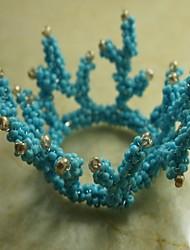 anello di corallo tovagliolo molti ramo, perle di vetro, 4,5 centimetri, set di 12