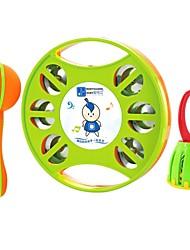 Недорогие -детские музыкальные инструменты из трех частей музыки бубен песок рукоятка молотка клетка кольцо колокол детские развивающие игрушки