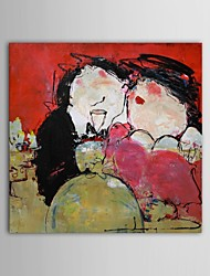 cheap -Hand-Painted People Square Canvas Oil Painting Home Decoration One Panel