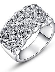 preiswerte -Damen Kristall Statement-Ring - Krystall, vergoldet, Diamantimitate Luxus 6 / 7 / 8 Silber / Golden Für Hochzeit / Party / Alltag / Kubikzirkonia / Zirkon