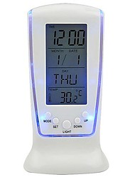 LED Blue Background Alarm Clock