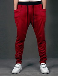 Da uomo A vita medio-alta Semplice Pantaloni della tuta Pantaloni,Largo Tinta unita