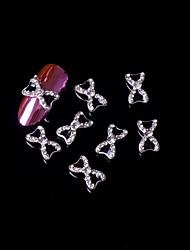 Недорогие -5шт 3d черный галстук-бабочка сплава стразами ногтей украшения ногтей ювелирных