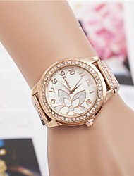 cheap -Women's Fashion Rhinestones Strap Watch Flower Steel Belt Quartz Wrist Watch(Assorted Colors) Cool Watches Unique Watches