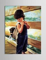 Dipinta a mano Ritratti Un Pannello Tela Hang-Dipinto ad olio For Decorazioni per la casa