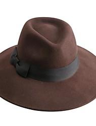 Недорогие -роскошный шерсти дамы партия / открытый / случайный шляпа (больше цвета)
