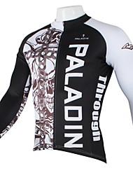 ILPALADINO Cykeltrøje Herre Langærmet Cykel Trøje Toppe Cykeltøj Hurtigtørrende Ultraviolet Resistent Åndbart Dødningehoveder