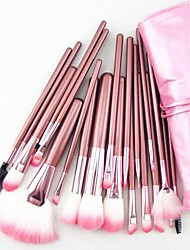 cheap -22PCS Nylon Hair Professional Pink Handle Makeup Brushes Set With Pink Bag