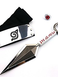 Weapon / Sword Inspired by Naruto Cosplay Anime Cosplay Accessories Headband / Weapon / Ring Black Alloy Male