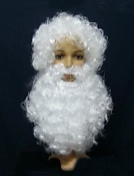 cheap -Christmas White Wig with Beard