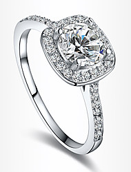 cheap -Women's Engagement Ring Statement Ring Love Bridal European Zircon Cubic Zirconia Silver Plated Gold Plated Imitation Diamond Jewelry