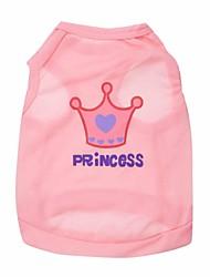 abordables -Gato Perro Camiseta Ropa para Perro Tiaras y Coronas Rosa Rosa Disfraz Para mascotas