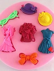 abordables -ramos de novia falda de la torta de chocolate fondant molde de silicona