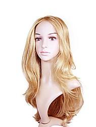 colore della miscela senza cappuccio extra lungo di alta qualità capelli ricci parrucca sintetica naturale con nessuno botto