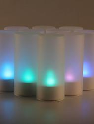 Недорогие -12шт звук датчика мерцания изменение 7 цветов привело свечах