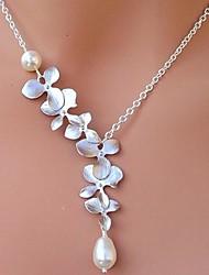 economico -Collane con ciondolo Collana di perle Perla Perle finte Lega Collane con ciondolo Collana di perle , Quotidiano Casual