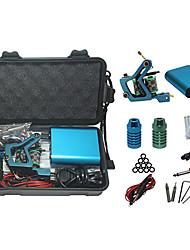 abordables -kit de tatouage professionnel avec la machine de tatouage et de puissance mini-alimentation bleu