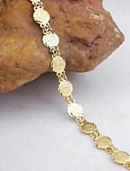 Недорогие -18k позолоченный браслет монета pandant