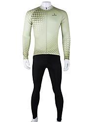 ILPALADINO Cykeltrøje og tights Herre Langt Ærme Cykel Tøjsæt Hurtigtørrende Åndbart 100% Polyester Plæd / Tern Forår Sommer Efterår