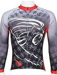 ILPALADINO Cykeltrøje Herre Langærmet Cykel Toppe Cykeltøj Hurtigtørrende Ultraviolet Resistent Åndbart Tegneserie Fritidssport Cykling /