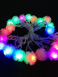cheap -Plush Ball 5M 4.8W Christmas Flash 20-LED RGB Light Strip Light Lamp (EU Plug , AC 110-220V)