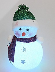 16CM Icy Crystal Christmas Snowmen Light LED