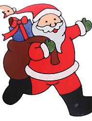 Недорогие -Санта-Клаус двери / окна / стены наклейки рождественские украшения