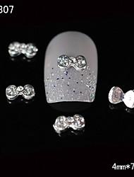 Недорогие -10шт 3d горный хрусталь советы круглый бабочкой сплав ногтей DIY Nail Art украшения