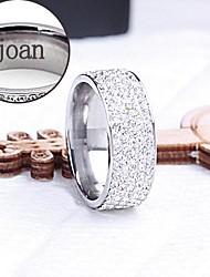 Недорогие -персональный подарок кольцо выгравированы ювелирные изделия из нержавеющей стали