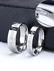preiswerte -personalisiertes Geschenk Paar Ringe aus Edelstahl eingraviert Schmuck